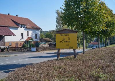 Ortsschild Löhlbach zum 800-jährigen Jubiläum