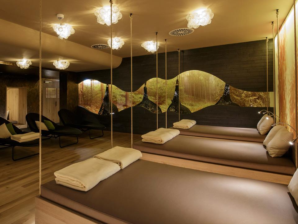 Das Hotel Diedrich in Hallenberg: Der Entspannungsraum im Wellnessbereich