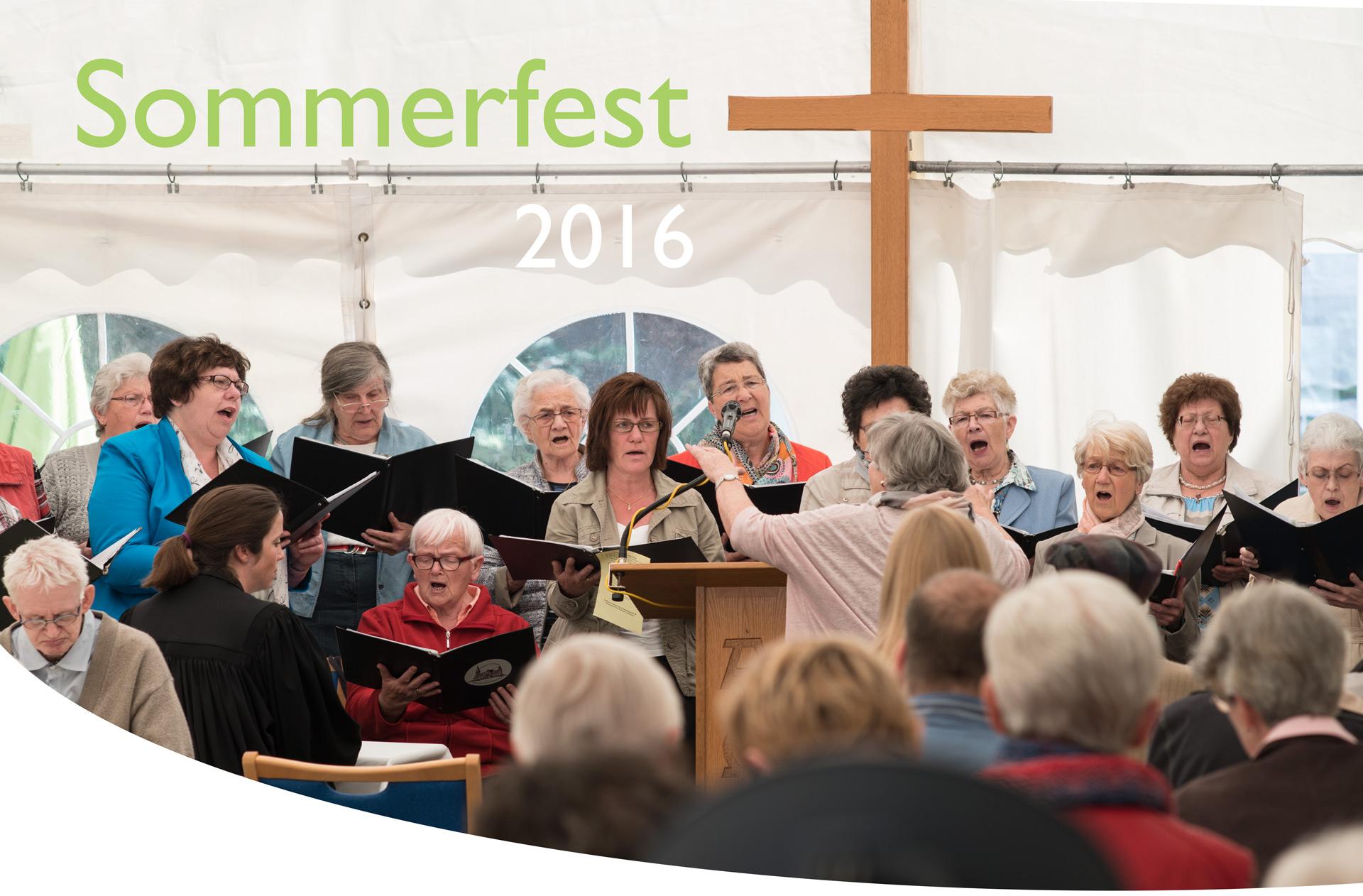 Chorgesang im Eröffnungs-Gottesdienst des Sommerfests 2016 im Löhlbacher Hof