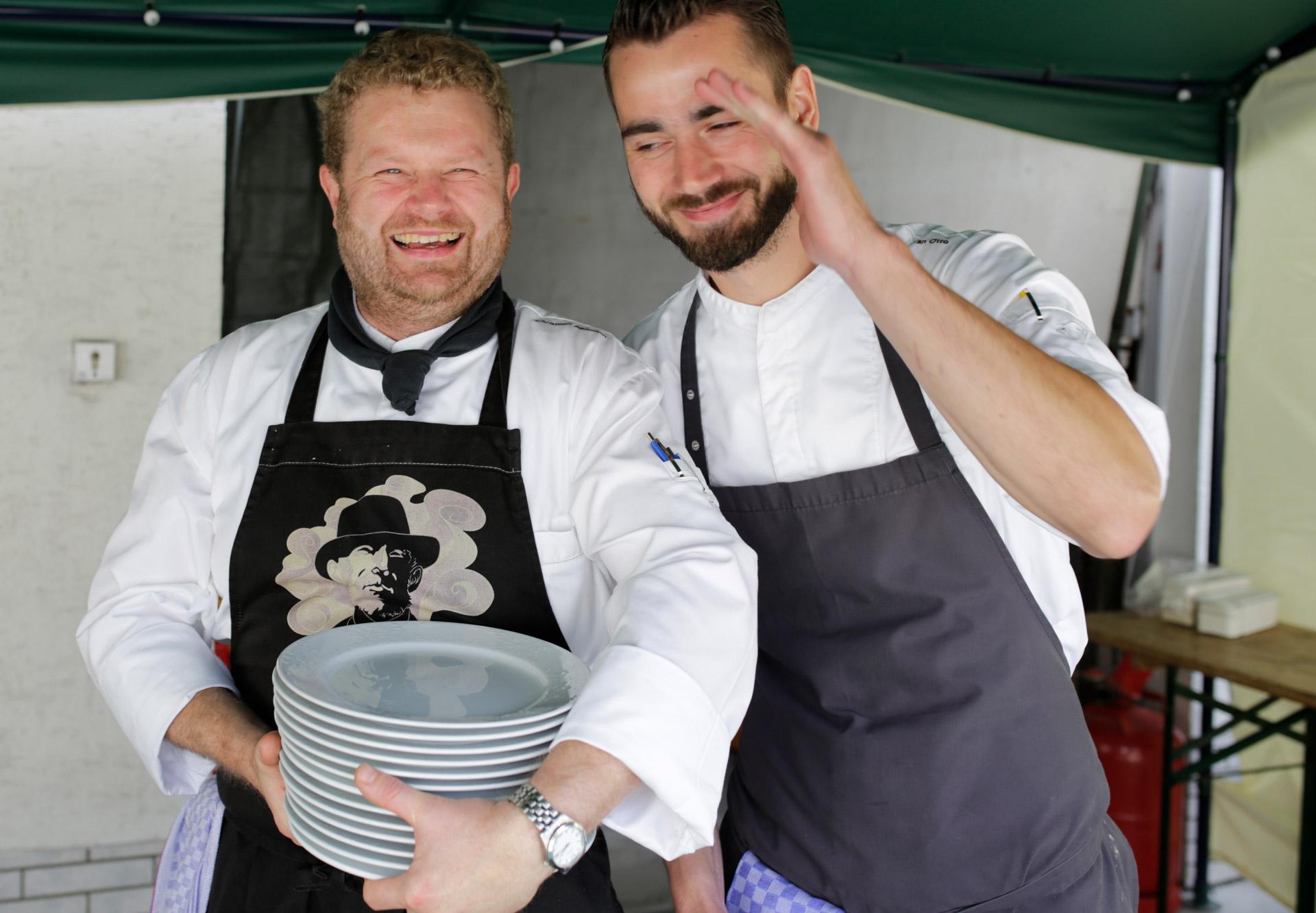 """Sommerfest 2016 Spass mit den Köchen des Restaurants """"Antons"""" aus dem Hotel """"Diedrich"""" in Hallenberg"""
