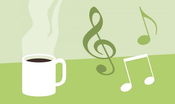 Musikstunde mit Kaffeetrinken