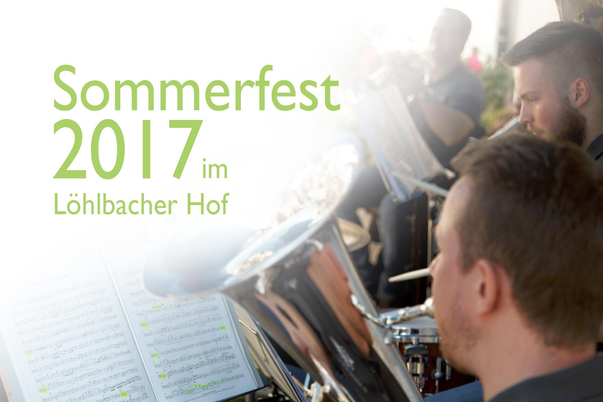 """Die Kappelle """"Holzfrei Glücklich"""" zum Sommerfests 2017 im Löhlbacher Hof"""